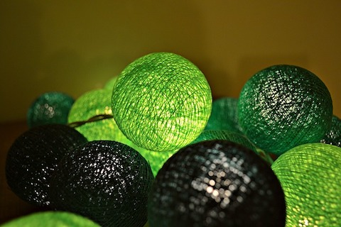 Ljusslinga i grönt
